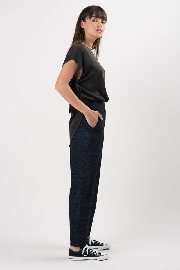 Printed Zebra Quartz Wide Leg Pants