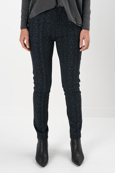Isolde Snake Fitted Pants