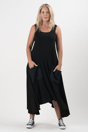 Black and Navy Parker Tank Dress