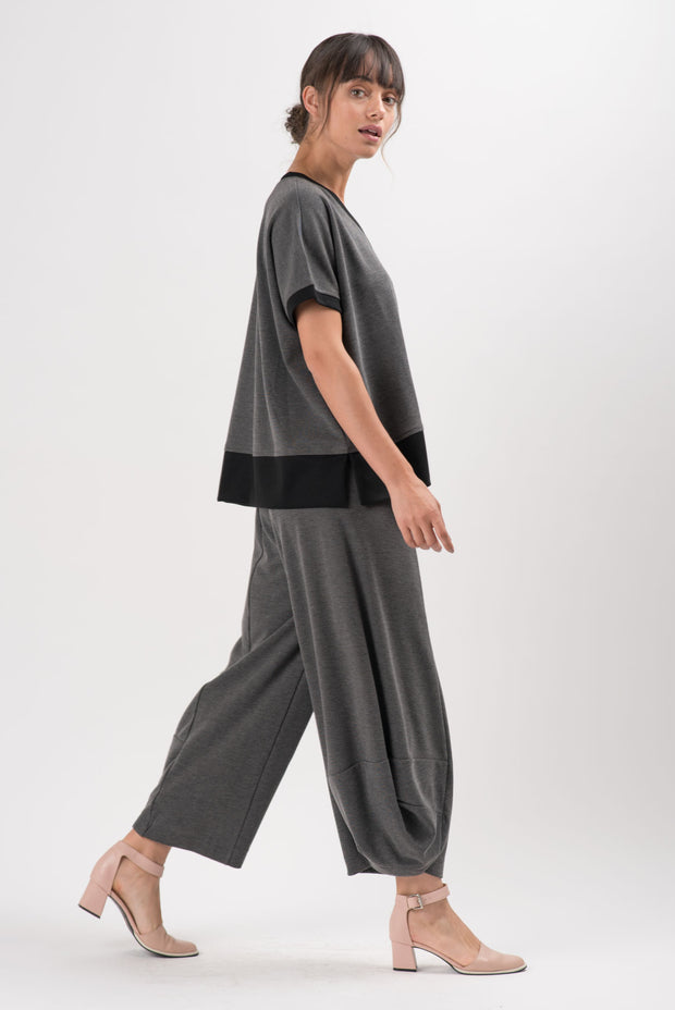 Charcoal Light Ponti Vail Oversize Top