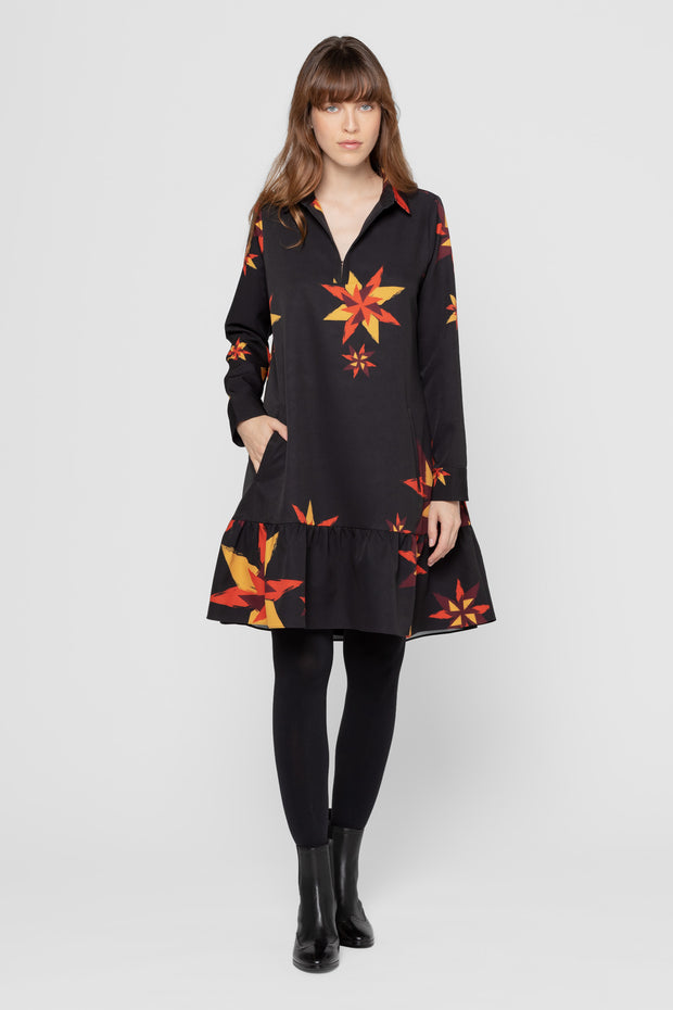 Printed Fairisle Noah Long Sleeve Dress