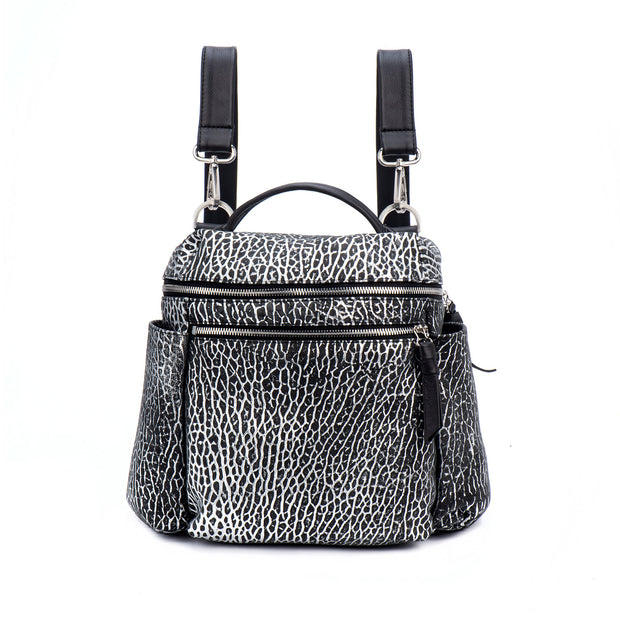 Black and Silver Amali Backpack