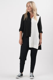 Black and White Tristan Colorblock Tunic