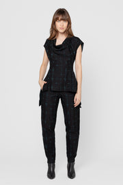 Distressed Check Gemini Relaxed Fit Pants