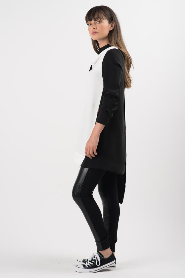Black Faux Leather Theodore Leggings