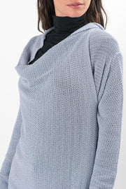 Ash Blue Knit Chelsea Wrap Cardigan