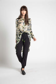 Dru Chiffon High Low Blouse