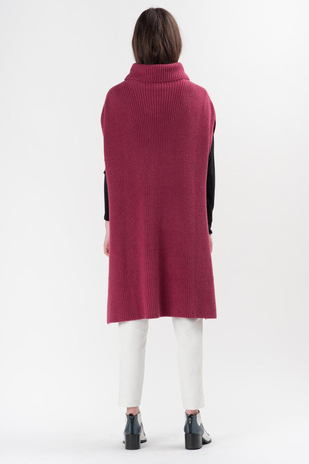 Berry Knit Hans Turtleneck Poncho | Ruti