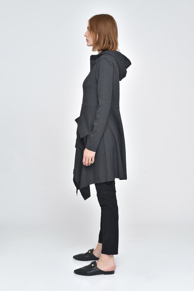 Heathered Charcoal Fonda Hooded Jacket