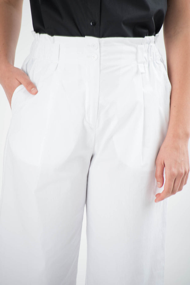Tony Poplin Wide Leg Pants