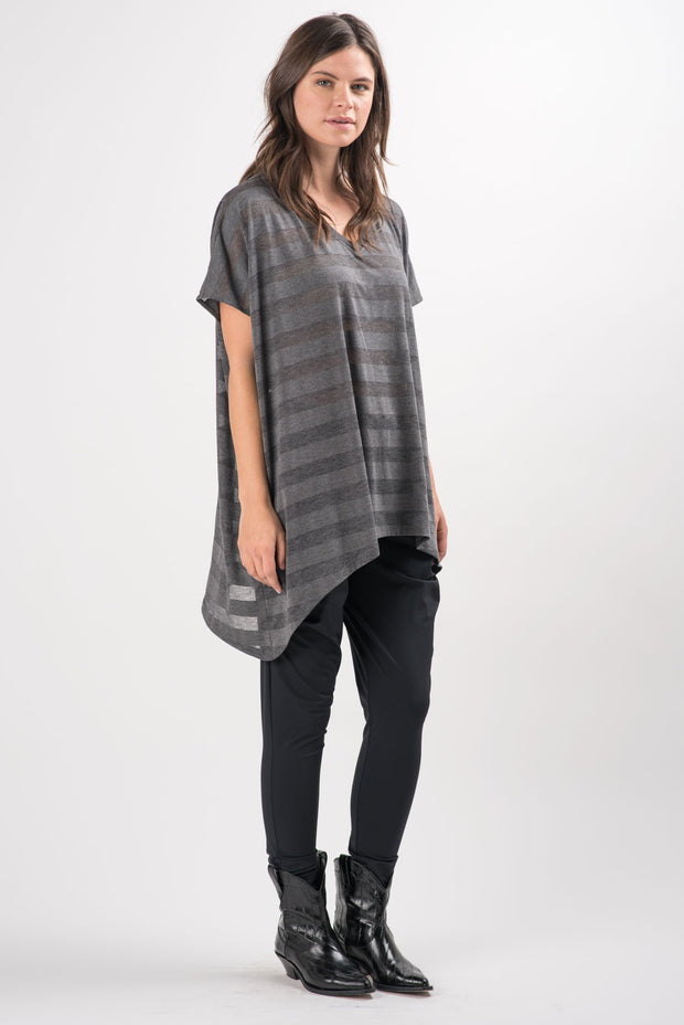 Grey Striped Panama Tunic | Ruti