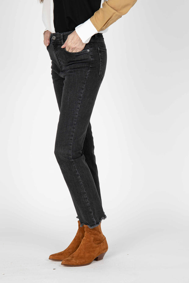 Black Gidi Straight Leg Denim