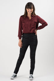 Houndstooth Ponti Isolde Straight Leg Pants