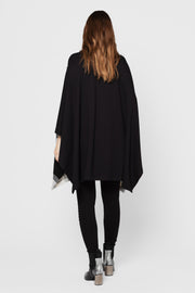 Black and White Plaid Melissa Poncho