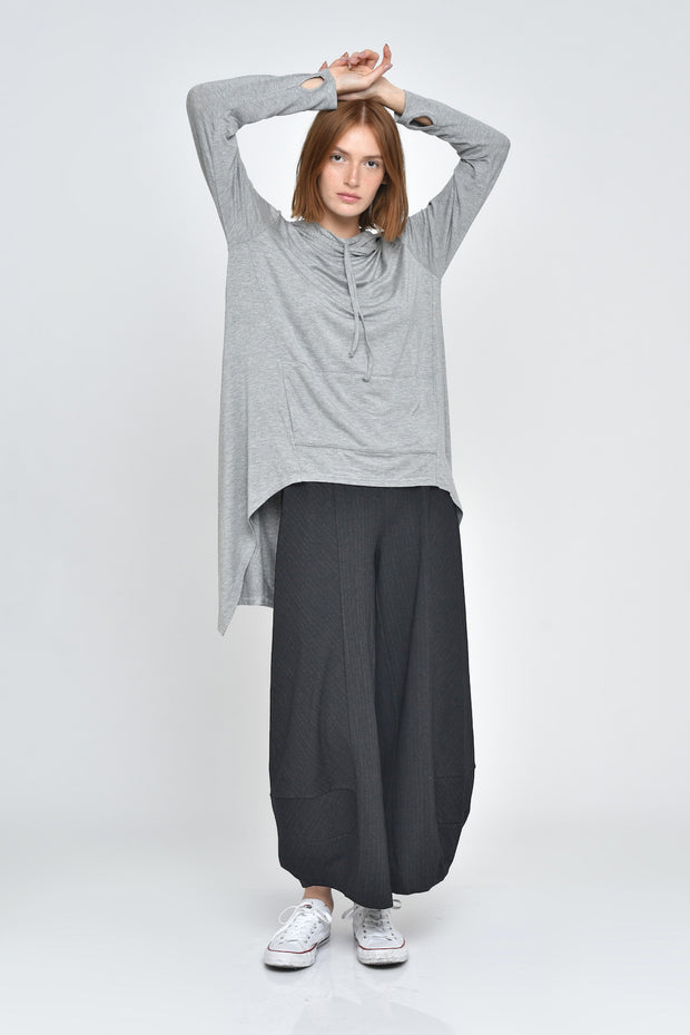 Heathered Charcoal Skylar Wide Leg Pants