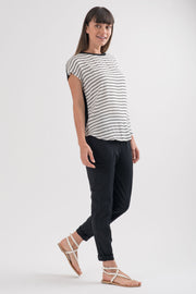Black and White Striped Dakota Top | RUTI