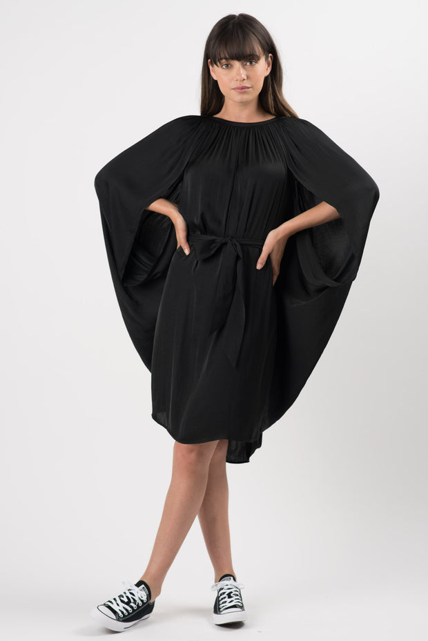Black Omega Oversized Dress