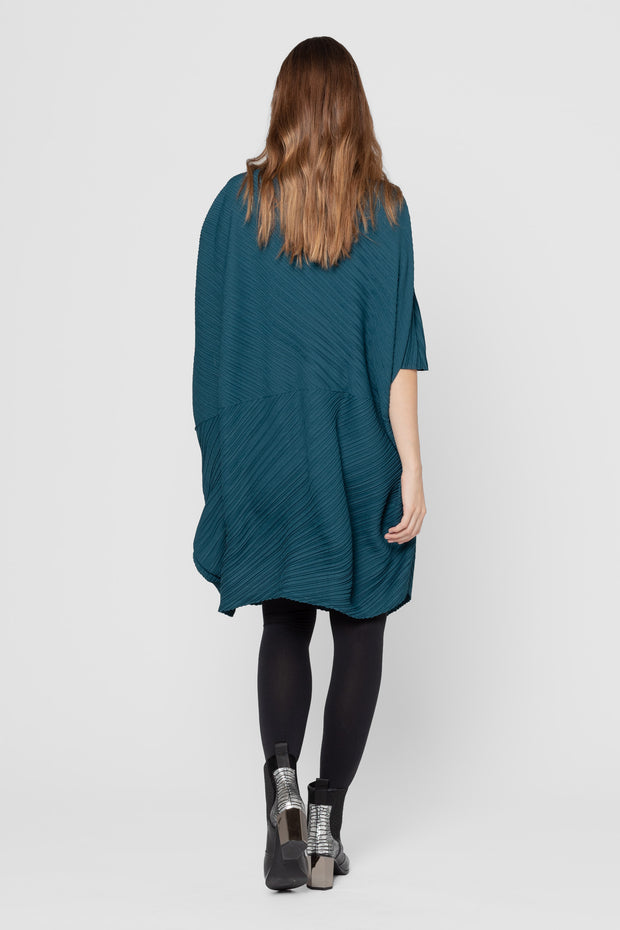 Teal Cindy Pleated Tunic