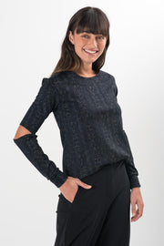 Brie Snake Long Sleeve Top