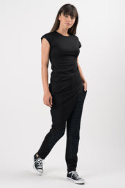 Black Aquarius Asymmetric Tunic