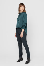 Forest Green Isolde Straight Leg Pants