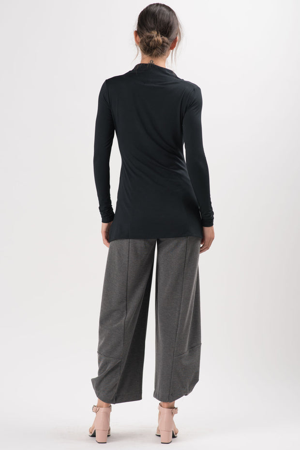 Charcoal Light Ponti Skylar Wide Leg Pants | RUTI