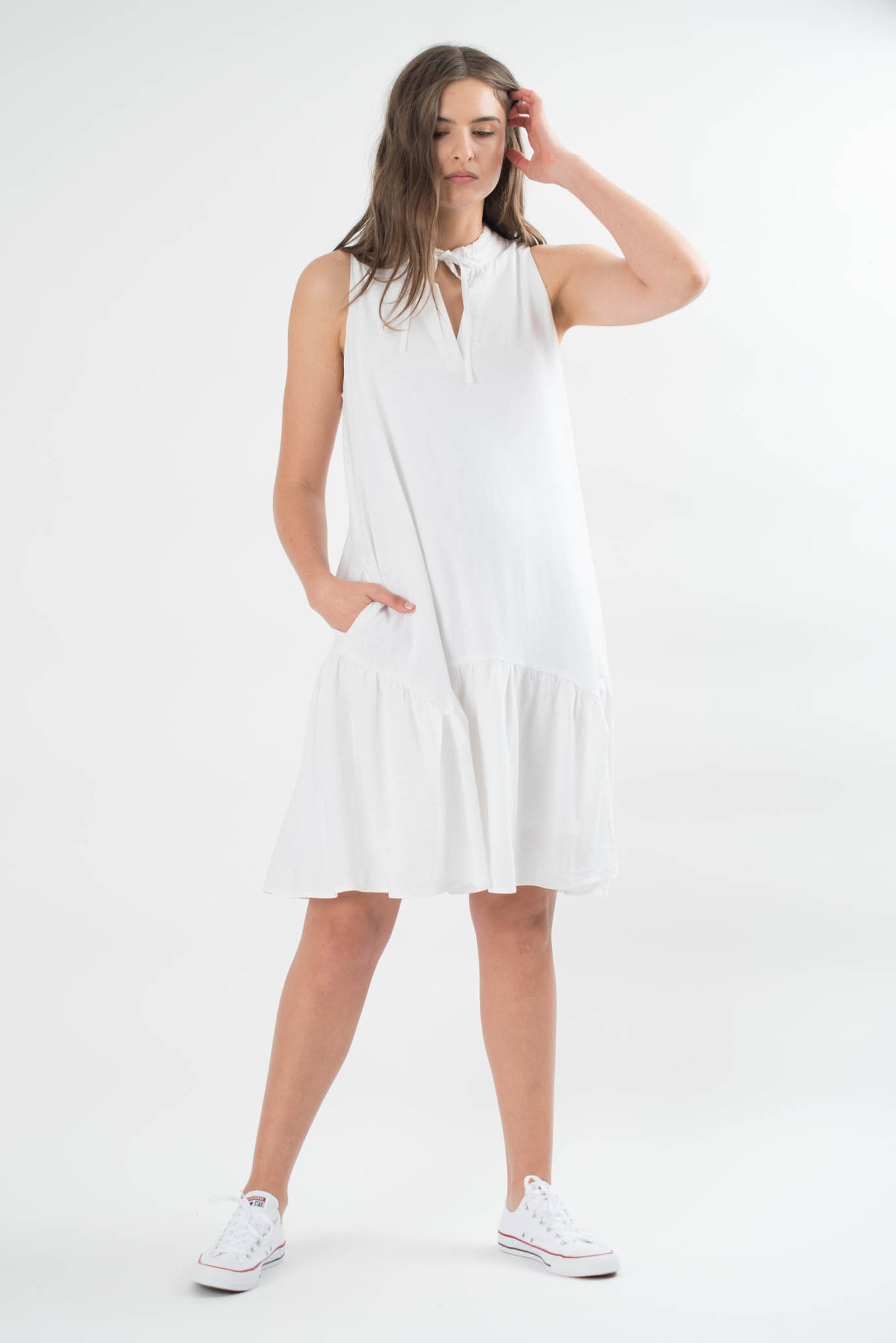 Joan Linen Sleeveless Dress