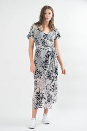 Una Chiffon Wrap Dress