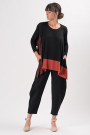 Black Ponti Quartz Wide Leg Pants