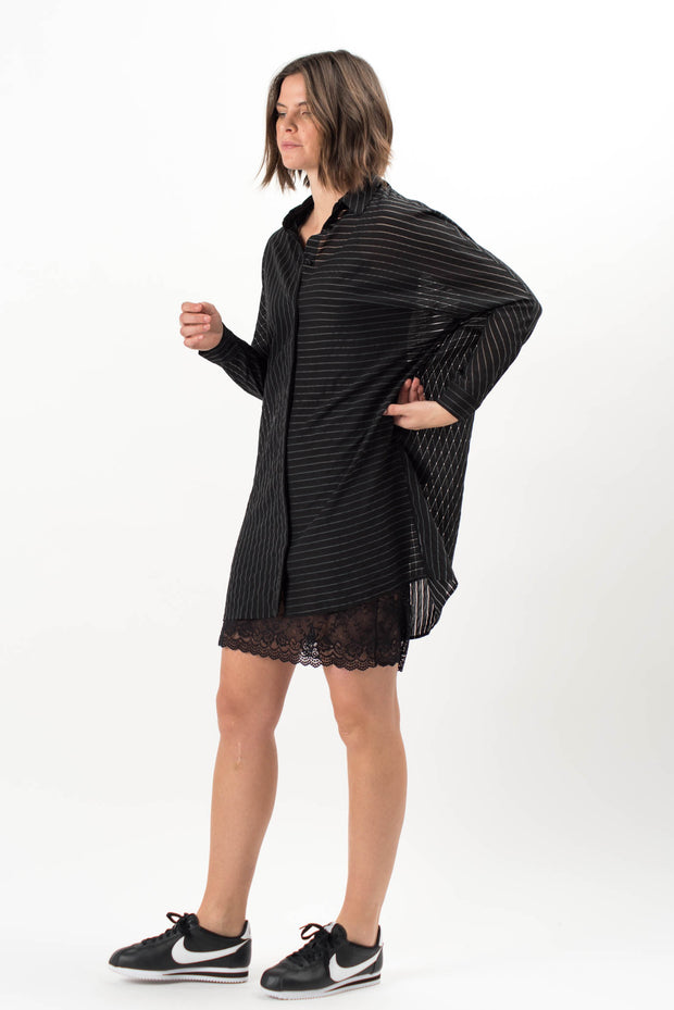 Porto Striped Oversized Dress