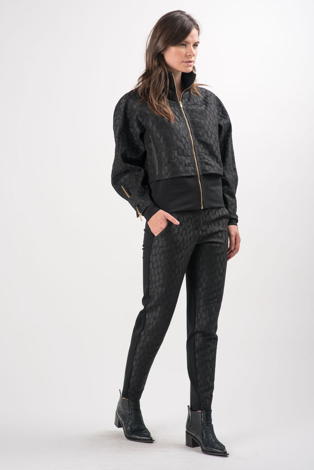 Oval Jacquard Lyric Short Jacket