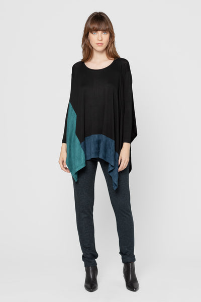 Forest and Teal Kevin Color Block Top