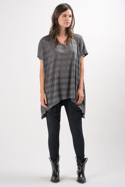 Grey Striped Panama Tunic