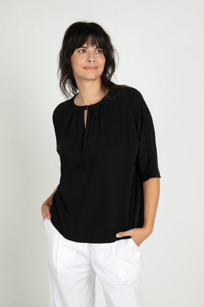 Black Alani 3/4 Sleeve Top