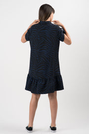 Printed Zebra Ramona Short Sleeve Dress