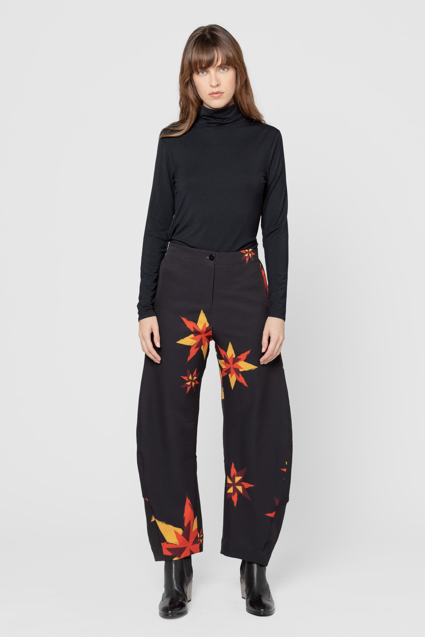 Printed Fairisle Jill Relaxed Fit Pants