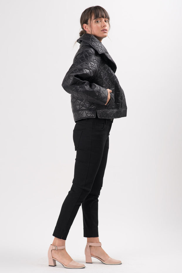 Black Quilted Jerome Short Jacket