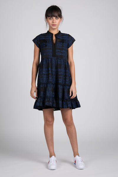 Navy and Black Aston Short Dress