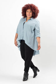 Brook Linen High Low Blouse