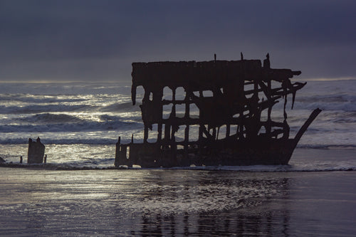 Peter Iredale at Sunset