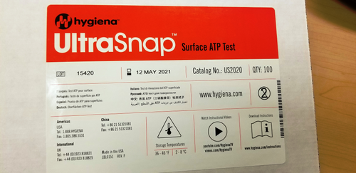 Ultrasnap surface test swabs