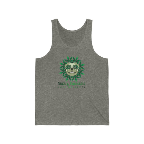 Dogs & Cannabis Make Me Happy Basic Tank