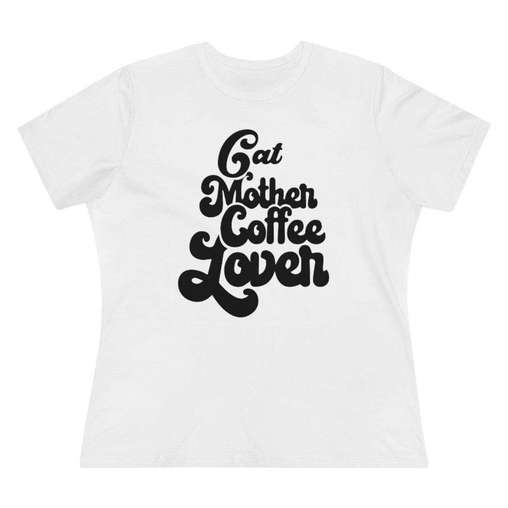 Cat Mother Coffee Lover Women's Tee