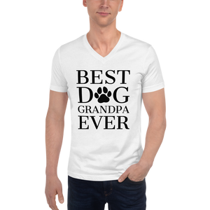 Best Dog Grandpa Ever V-Neck
