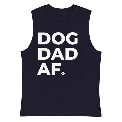 Dog Dad AF Muscle Tank