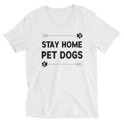 Stay Home Pet Dogs V-Neck