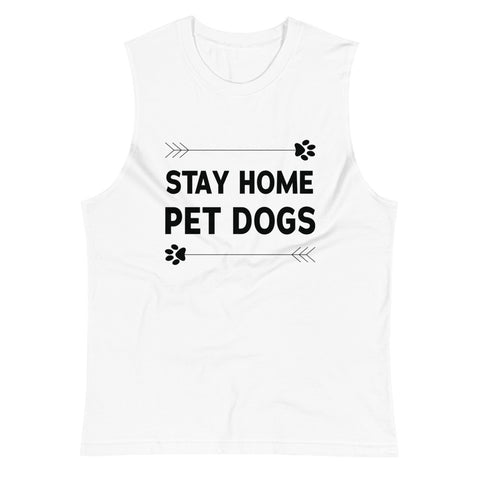 Stay Home Pet Dogs Muscle Tank