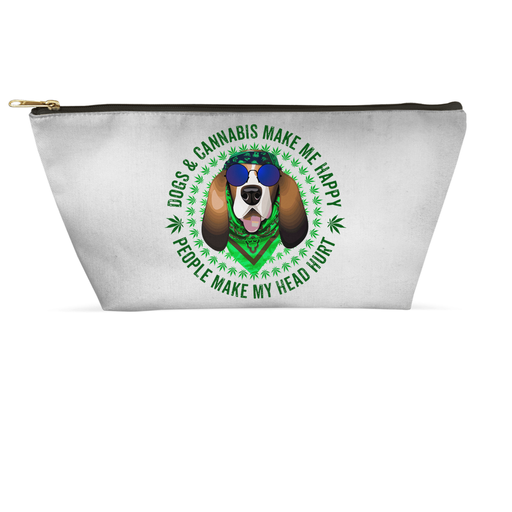 Dogs & Cannabis Make Me Happy People Make My Head Hurt Accessory Pouch