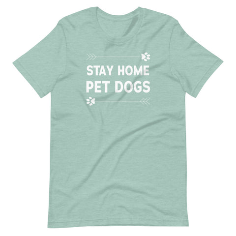 Stay Home Pet Dogs Basic Tee