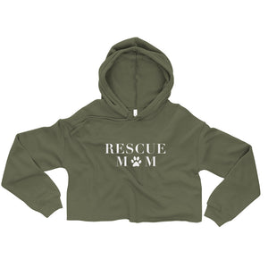 Rescue Mom Cropped Hoodie
